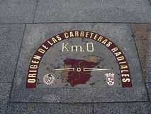 Μηδέν σημείο χιλιομέτρου - γεωγραφικό κέντρο της Ισπανίας στοκ φωτογραφία