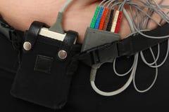 μηνύτορας καρδιών holter Στοκ φωτογραφίες με δικαίωμα ελεύθερης χρήσης