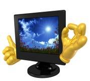 μηνύτορας σχήματος LCD χαρα&kappa ελεύθερη απεικόνιση δικαιώματος