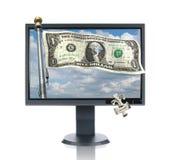μηνύτορας χρημάτων LCD Στοκ εικόνες με δικαίωμα ελεύθερης χρήσης
