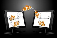 μηνύτορας LCD της μεγάλης οθ ελεύθερη απεικόνιση δικαιώματος