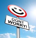 Μην ανησυχήστε την έννοια. Στοκ Εικόνα