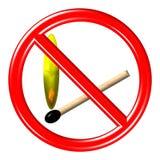 μην βάλτε φωτιά σε κανένα σημάδι Στοκ Φωτογραφία