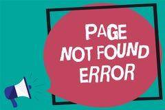 Μην βριαλμένη σελίδων κειμένων γραφής λάθος Η έννοια που σημαίνει το μήνυμα εμφανίζεται πότε η αναζήτηση του ιστοχώρου δεν υπάρχε Στοκ εικόνα με δικαίωμα ελεύθερης χρήσης