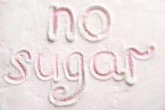 Μην διατυπώστε ΚΑΜΙΑ ΖΑΧΑΡΗ γραπτή Στοκ εικόνα με δικαίωμα ελεύθερης χρήσης