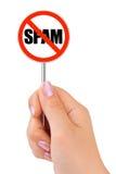 μην δώστε κανένα σημάδι spam Στοκ Εικόνα