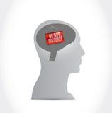 Μην εισάγετε το μήνυμα σημαδιών σε ένα κεφάλι απεικόνιση αποθεμάτων