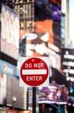 Μην εισάγετε το σημάδι κυκλοφορίας της Νέας Υόρκης στοκ φωτογραφία με δικαίωμα ελεύθερης χρήσης