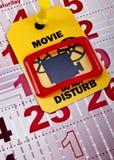 Μην ενοχλήστε πότε τρεξίματα 2 κινηματογράφων στοκ εικόνα με δικαίωμα ελεύθερης χρήσης