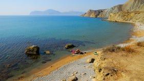 Μην θελήστε να φύγετε Ακτή της Μαύρης Θάλασσας, Κριμαία Στοκ Φωτογραφίες