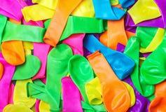 Μην διογκωμένο υπόβαθρο μπαλονιών Στοκ Φωτογραφίες