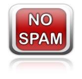μην κουμπώστε κανένα spam Στοκ Εικόνα
