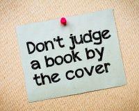 Μην κρίνετε ένα βιβλίο από την κάλυψη Στοκ Εικόνες