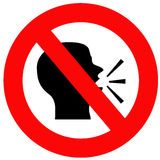 μην μιλήστε Στοκ εικόνα με δικαίωμα ελεύθερης χρήσης