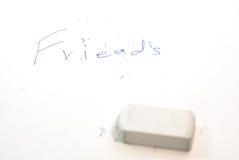 Μην μπορέστε να διαγράψετε τους φίλους Στοκ Εικόνα