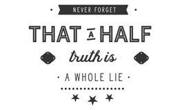 Μην ξεχάστε ποτέ ότι μια μισή αλήθεια είναι ένα σύνολο βρίσκεται ελεύθερη απεικόνιση δικαιώματος