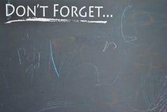 μην ξεχάστε Στοκ Φωτογραφίες