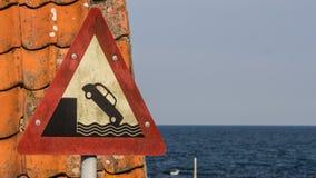 Μην οδηγήστε πέρα από την άκρη Στοκ φωτογραφίες με δικαίωμα ελεύθερης χρήσης
