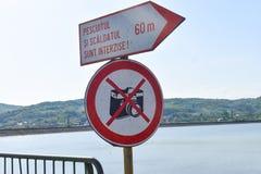 Μην πάρτε το σημάδι φωτογραφιών στοκ φωτογραφία με δικαίωμα ελεύθερης χρήσης