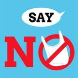 Μην πέστε κανένα γραφικό υπόβαθρο πλαστικών τσαντών, ετικέτα ή διάνυσμα εμβλημάτων Στοκ εικόνες με δικαίωμα ελεύθερης χρήσης