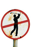 Μην παίξτε τα σημάδια γκολφ που απομονώνονται Στοκ φωτογραφίες με δικαίωμα ελεύθερης χρήσης