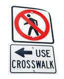 Μην περπατήστε το σημάδι Στοκ φωτογραφία με δικαίωμα ελεύθερης χρήσης