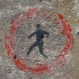Μην περπατήστε το σημάδι Στοκ εικόνες με δικαίωμα ελεύθερης χρήσης