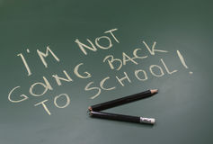 Μην πηγαίνοντας πίσω στο σχολείο Στοκ Φωτογραφίες