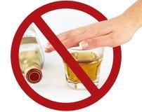 μην πιείτε κανένα σημάδι Στοκ Εικόνες