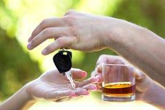 Μην πιείτε όταν οδηγείτε Στοκ εικόνα με δικαίωμα ελεύθερης χρήσης