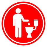 Μην ρυπάνετε στην τουαλέτα Στοκ φωτογραφίες με δικαίωμα ελεύθερης χρήσης