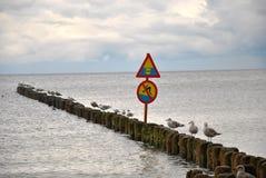 Μην υπογράψτε καμία κολύμβηση Στοκ φωτογραφίες με δικαίωμα ελεύθερης χρήσης