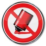 Μην υπογράψτε κανένα κόκκινο κτύπημα μανδρών Στοκ φωτογραφία με δικαίωμα ελεύθερης χρήσης