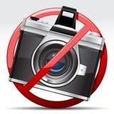 Μην φέρτε το σημάδι καμερών Στοκ Εικόνες