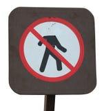 Μην χαλαρώστε το επικεφαλής σημάδι Στοκ φωτογραφία με δικαίωμα ελεύθερης χρήσης