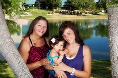 μητέρα εγγονών κορών στοκ φωτογραφίες