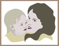 Μητέρα και κόρη ειδώλων διανυσματική απεικόνιση