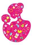 Μητέρα και μωρό απεικόνιση αποθεμάτων