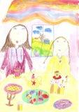 Μητέρα, κόρη, Πάσχα Στοκ φωτογραφία με δικαίωμα ελεύθερης χρήσης
