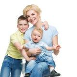 Μητέρα με τα παιδιά στοκ φωτογραφία