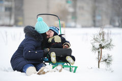 Μητέρα με το γιο Στοκ φωτογραφίες με δικαίωμα ελεύθερης χρήσης