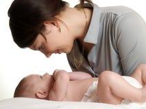 Μητέρα με το μωρό Στοκ Εικόνες