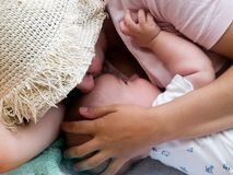 μητέρα μωρών Στοκ Φωτογραφία