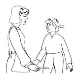 μητέρα παιδιών ελεύθερη απεικόνιση δικαιώματος