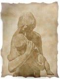 μητέρα σχεδίων παιδιών Στοκ εικόνα με δικαίωμα ελεύθερης χρήσης