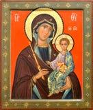 μητέρα του Ιησού Θεών Χρισ&tau Στοκ φωτογραφία με δικαίωμα ελεύθερης χρήσης