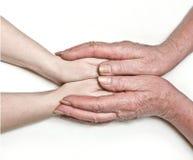μητέρα χεριών Στοκ εικόνες με δικαίωμα ελεύθερης χρήσης