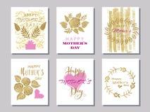 Μητέρες ημέρα καθορισμένο cards1 διανυσματική απεικόνιση