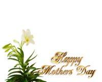 μητέρες κρίνων ημέρας καρτών &s απεικόνιση αποθεμάτων