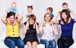 μητέρες παιδιών Στοκ Εικόνα